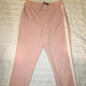 Zara Pink Trafaluc Collection Side Stripe size S